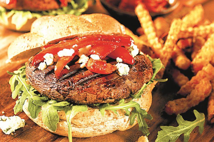 Žampionový burger
