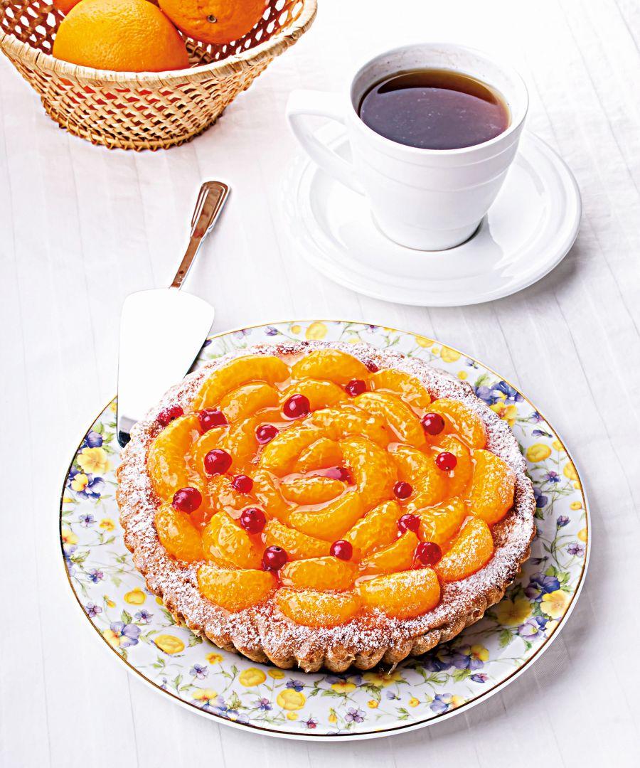 Čoko-mandarinkový koláč
