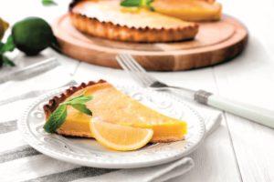 Křehký citronový koláč